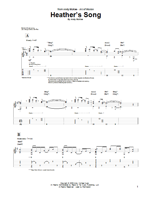 Heather's Song (Guitar Tab)
