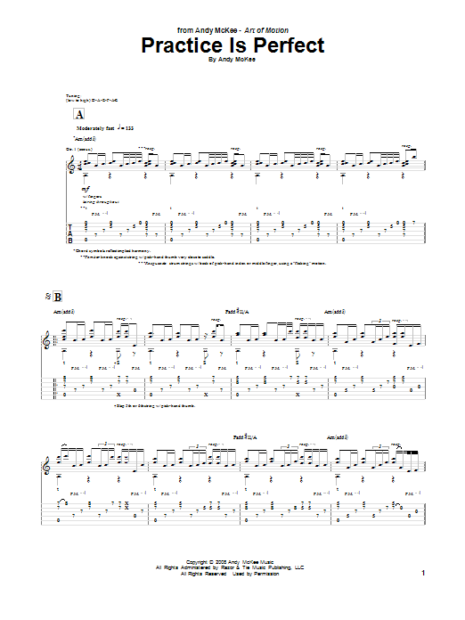 Practice Is Perfect (Guitar Tab)
