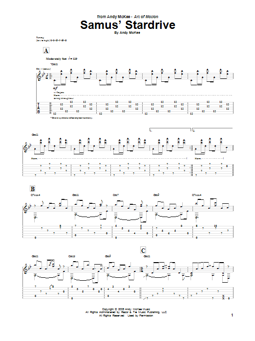 Samus' Stardrive Sheet Music