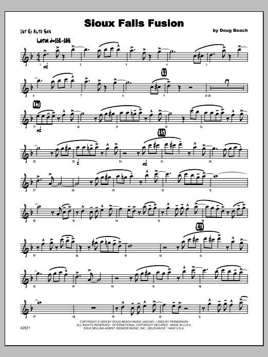 Sioux Falls Fusion - Alto Sax 1 Sheet Music