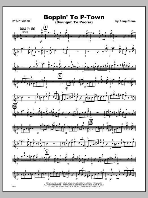 Boppin' To P-Town (Swingin' To Peoria) - Tenor Sax 1 Sheet Music