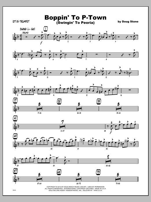 Boppin' To P-Town (Swingin' To Peoria) - Trumpet 1 Sheet Music