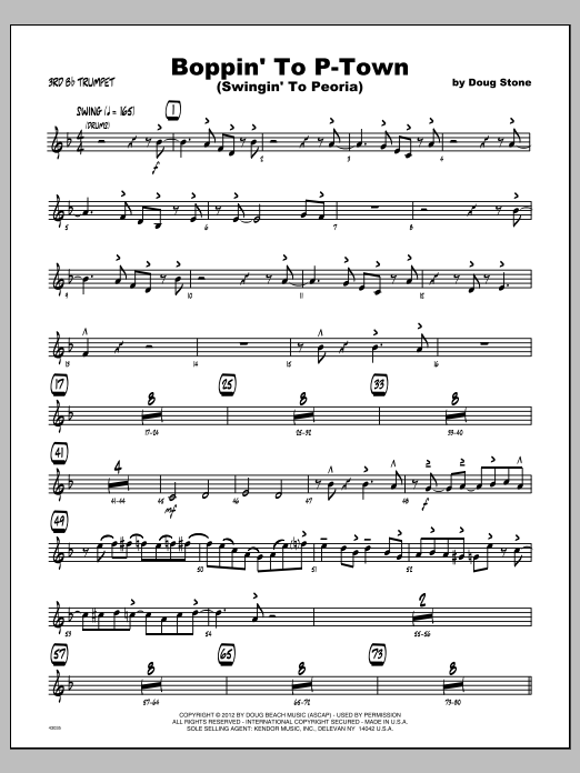 Boppin' To P-Town (Swingin' To Peoria) - Trumpet 3 Sheet Music