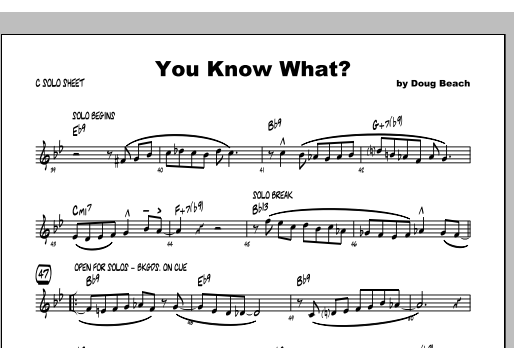 You Know What? - Featured Part Sheet Music
