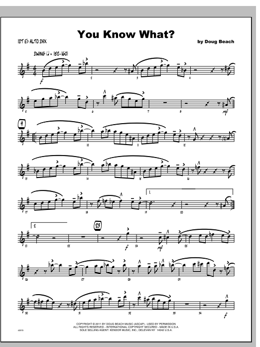 You Know What? - Alto Sax 1 Sheet Music