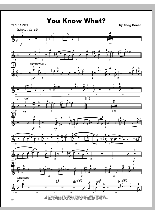 You Know What? - Trumpet 1 Sheet Music