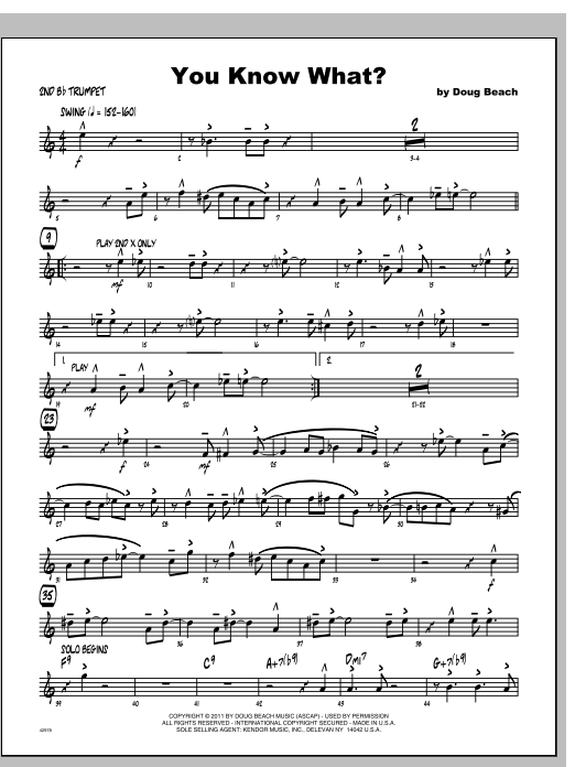 You Know What? - Trumpet 2 Sheet Music
