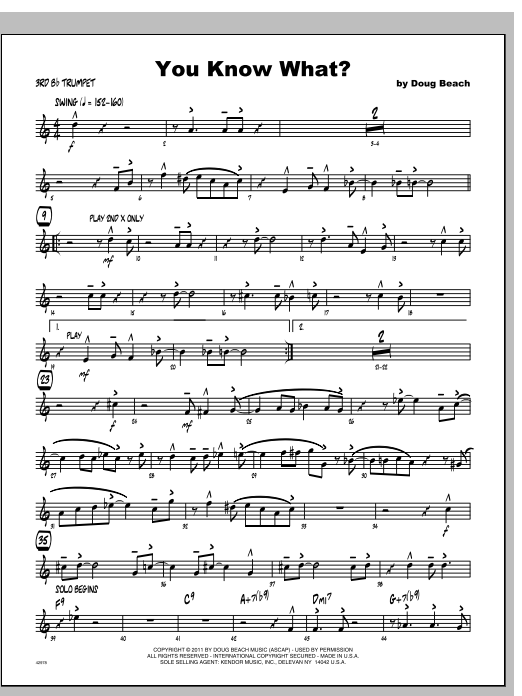 You Know What? - Trumpet 3 Sheet Music