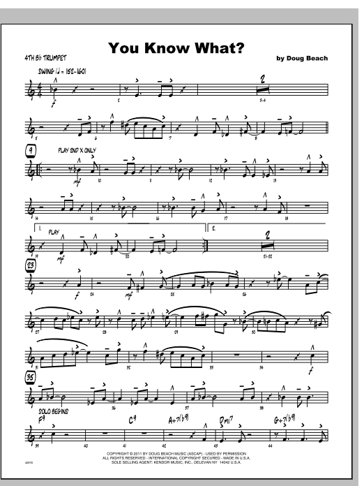 You Know What? - Trumpet 4 Sheet Music