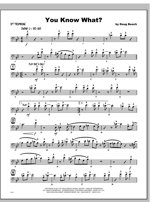 You Know What? - Trombone 1 Sheet Music