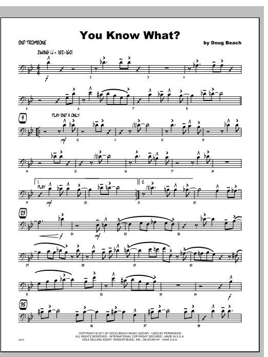 You Know What? - Trombone 2 Sheet Music