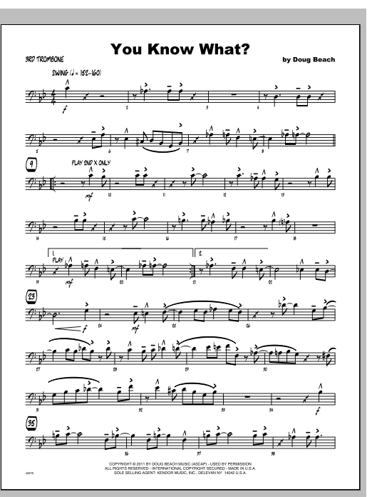 You Know What? - Trombone 3 Sheet Music