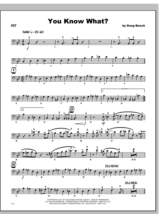 You Know What? - Bass Sheet Music