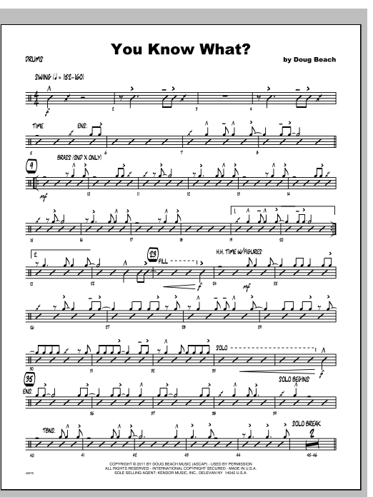 You Know What? - Drums Sheet Music