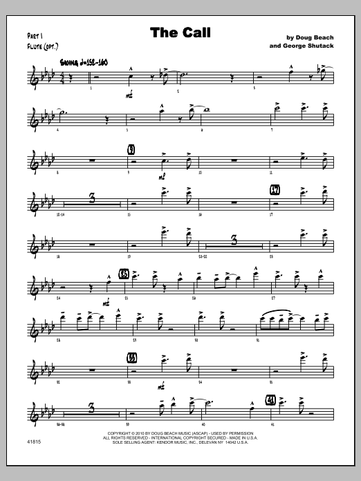 Call, The - Flute Sheet Music