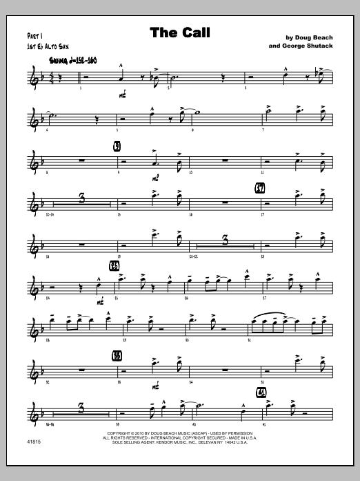 Call, The - Alto Sax 1 Sheet Music