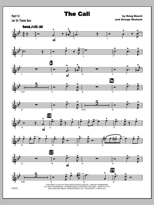 Call, The - Tenor Sax 1 Sheet Music