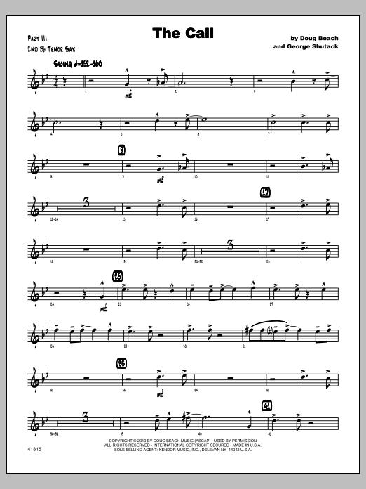 Call, The - Tenor Sax 2 Sheet Music