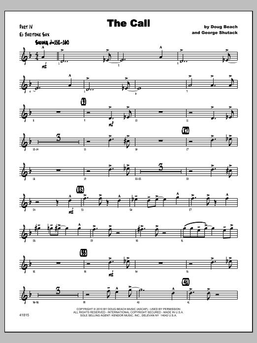 Call, The - Baritone Sax Sheet Music
