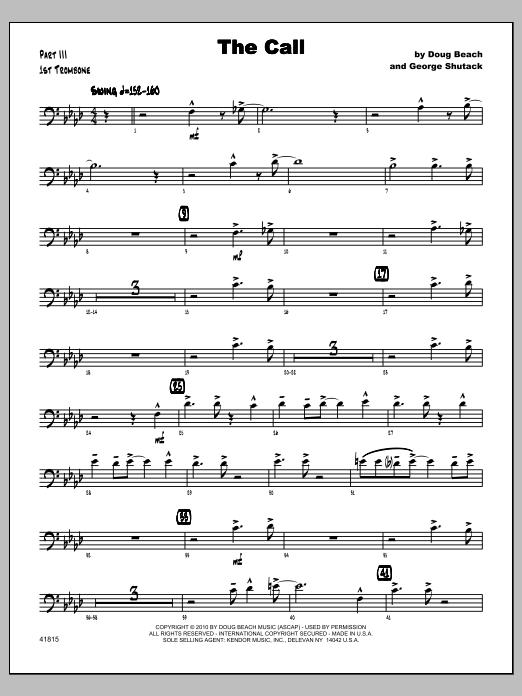 Call, The - Trombone 1 Sheet Music