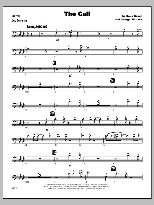 Call, The - Trombone 2 Sheet Music