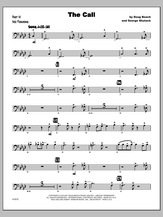 Call, The - Trombone 3 Sheet Music