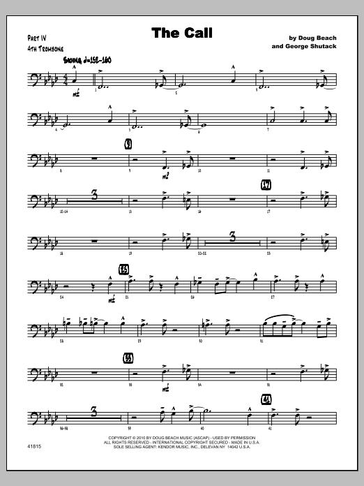 Call, The - Trombone 4 Sheet Music