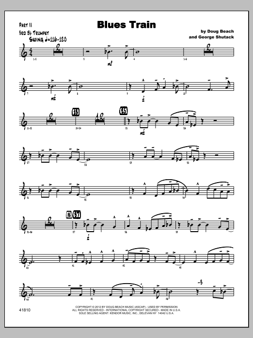 Blues Train - Trumpet 3 Sheet Music