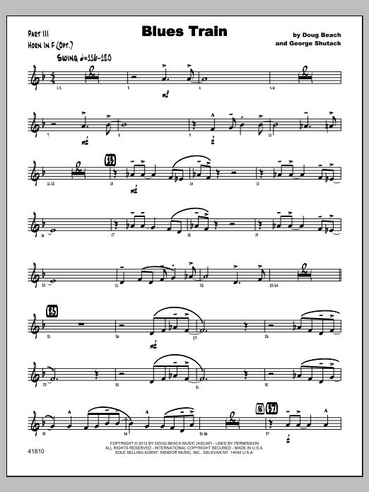 Blues Train - Horn Sheet Music