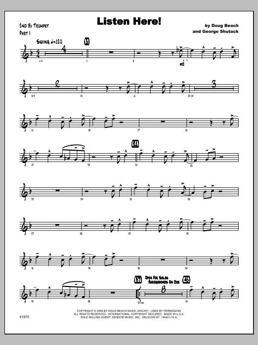 Listen Here! - Trumpet 2 Sheet Music