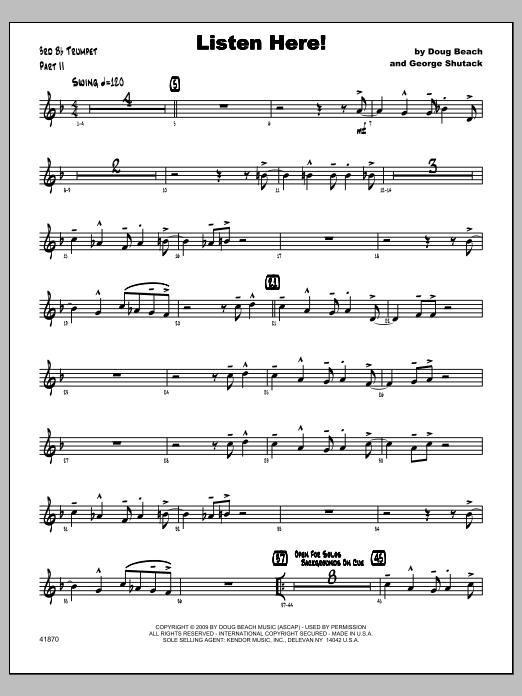Listen Here! - Trumpet 3 Sheet Music