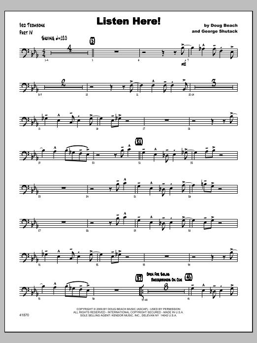 Listen Here! - Trombone 3 Sheet Music
