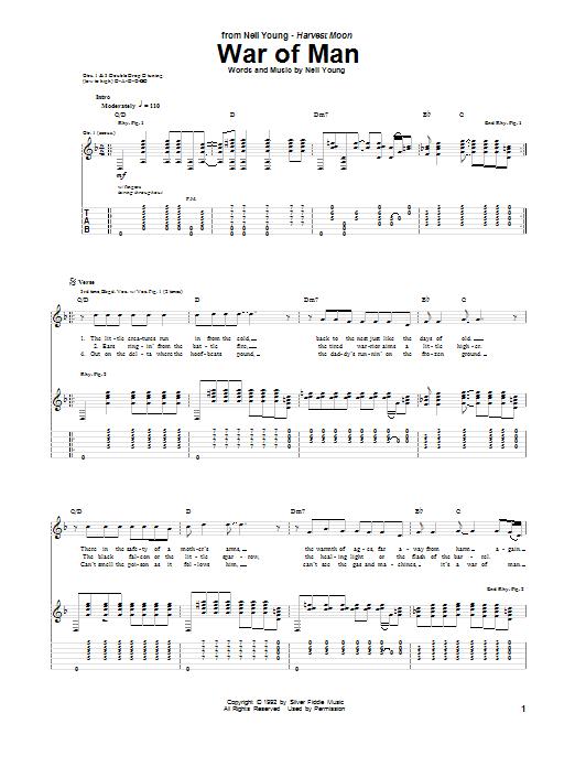 War Of Man (Guitar Tab)
