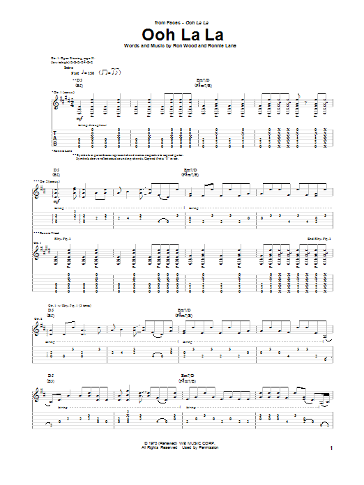 Ooh La La Sheet Music