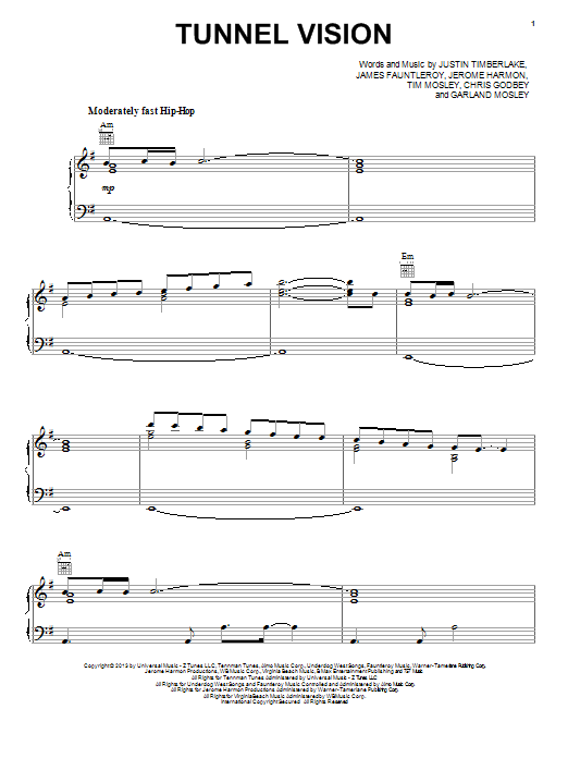 Tunnel Vision Sheet Music
