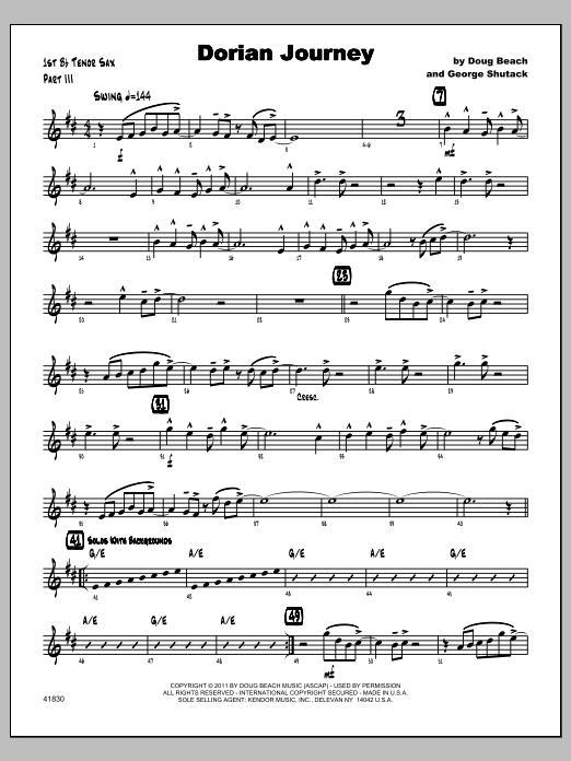Dorian Journey - Tenor Sax 1 Sheet Music