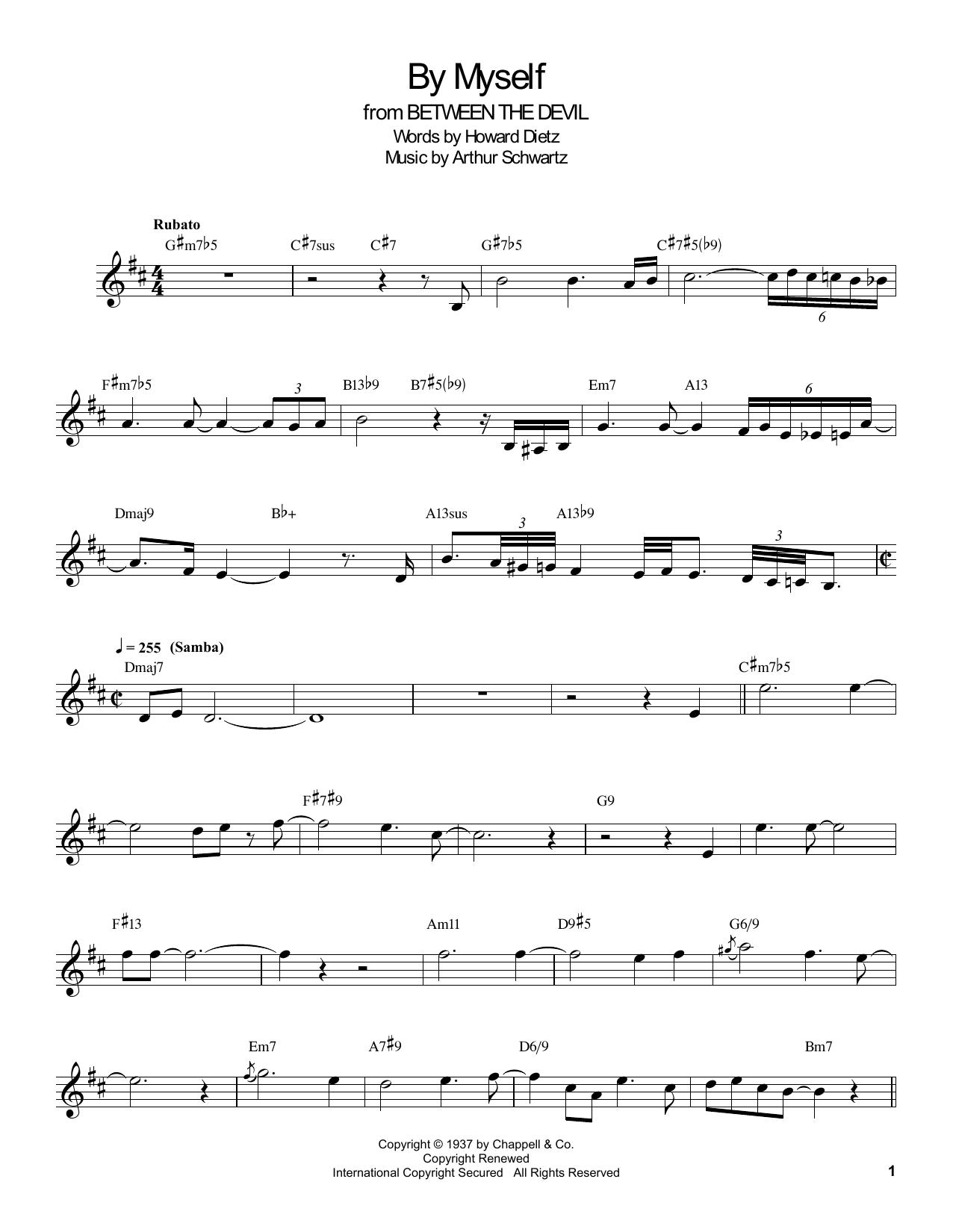 By Myself Sheet Music