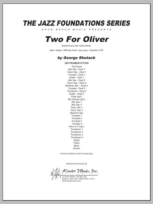 Two For Oliver - Full Score Sheet Music