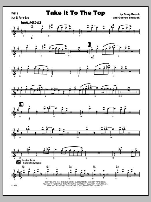 Take It To The Top - Alto Sax 1 Sheet Music
