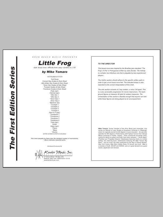 Little Frog - Full Score Sheet Music