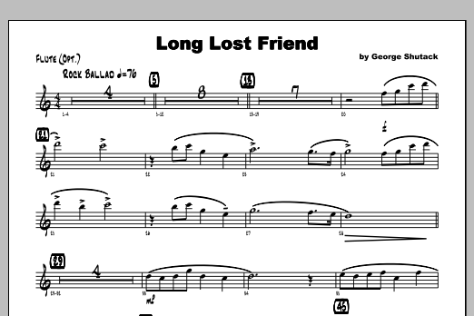 Long Lost Friend - Flute Sheet Music