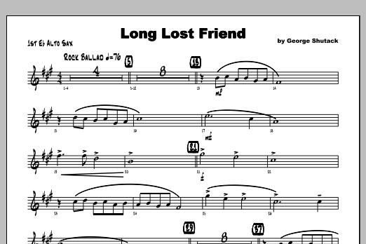 Long Lost Friend - Alto Sax 1 Sheet Music