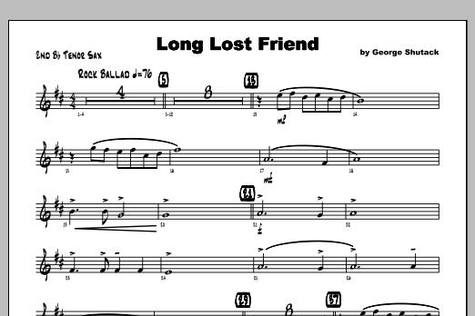 Long Lost Friend - Tenor Sax 2 Sheet Music