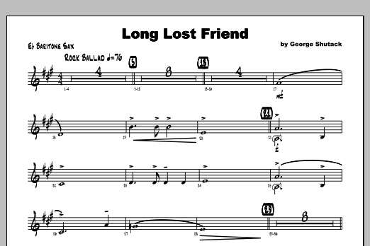 Long Lost Friend - Baritone Sax Sheet Music