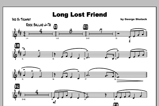 Long Lost Friend - Trumpet 3 Sheet Music