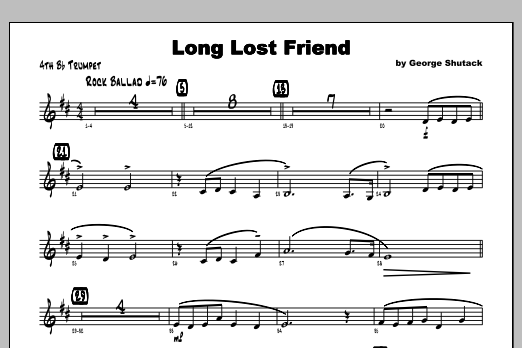 Long Lost Friend - Trumpet 4 Sheet Music