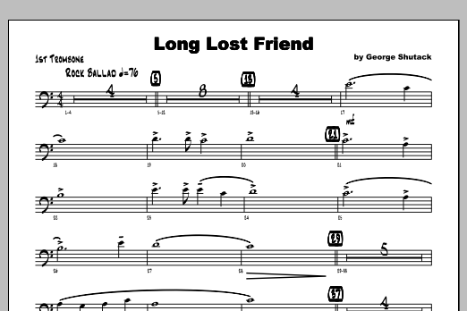 Long Lost Friend - Trombone 1 Sheet Music