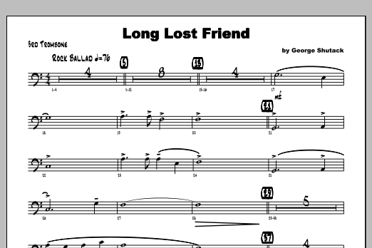 Long Lost Friend - Trombone 3 Sheet Music