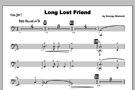 Long Lost Friend - Tuba Sheet Music