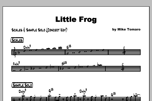 Little Frog - Featured Part Sheet Music